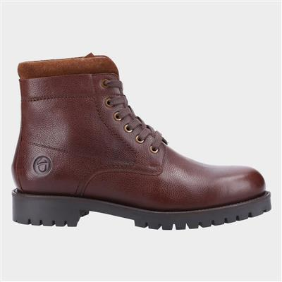 Thorsbury Mens Lace Up Boot in Brown