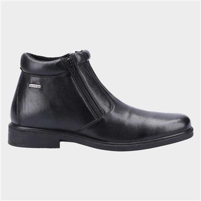 Kelmscott Mens Black Leather Ankle Boot