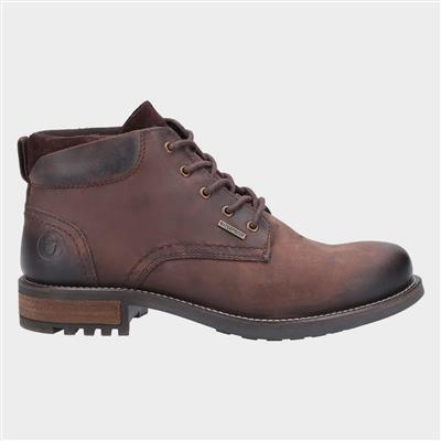 Woodmancote Mens Lace Up Boot in Brown