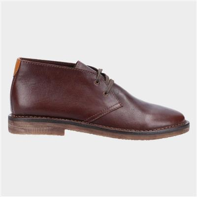 Samuel Mens Leather Boot in Brown