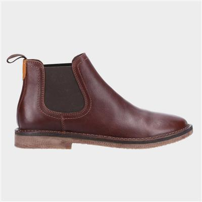 Shaun Mens Brown Leather Chelsea Boot