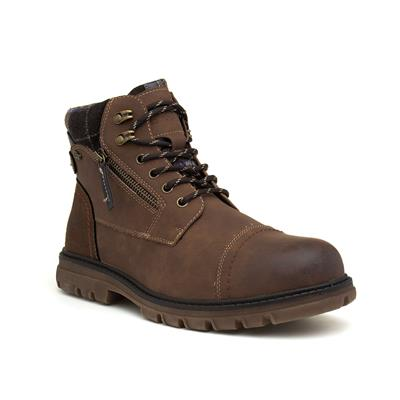 Cognac Mens Brown Zip Up Boot