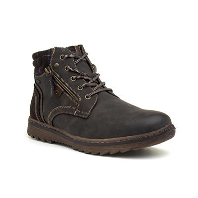 Mens Brown Lace Up Ankle Boot