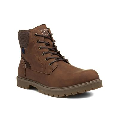 Mens Light Brown Lace Up Boot