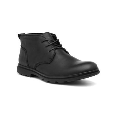 Tyson Mens Black Lace Up Leather Boot