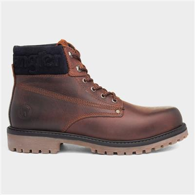 Arch Mens Brown Lace Up Leather Boot