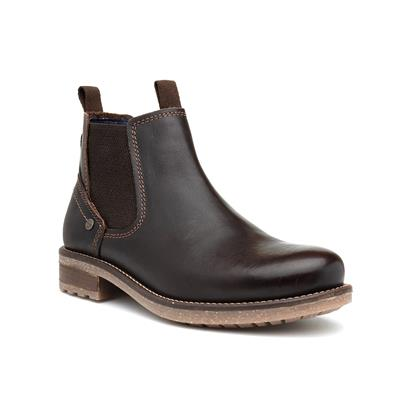 Hill Mens Brown Leather Chelsea Boot