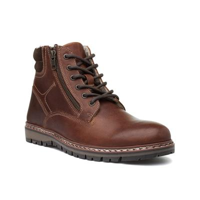 Sawston Mens Brown Lace Up Ankle Boot