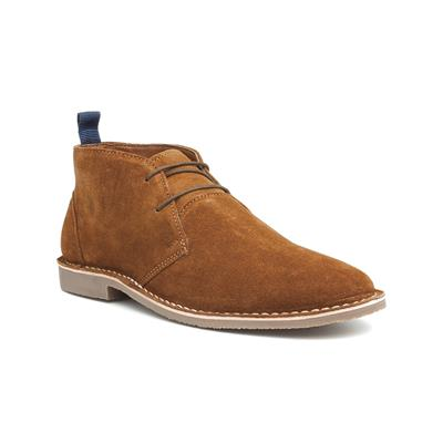 Mens Tan Leather Lace Up Desert Boot