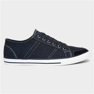 Russell Canvas Navy Mens Shoes Lace Up
