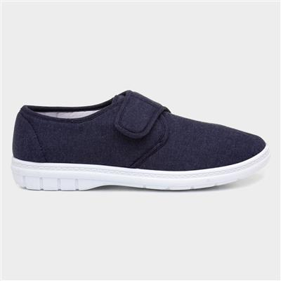 Mens Canvas Shoe in Blue