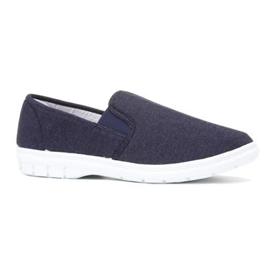 Hobos Mens Twin Gusset Canvas Shoe in