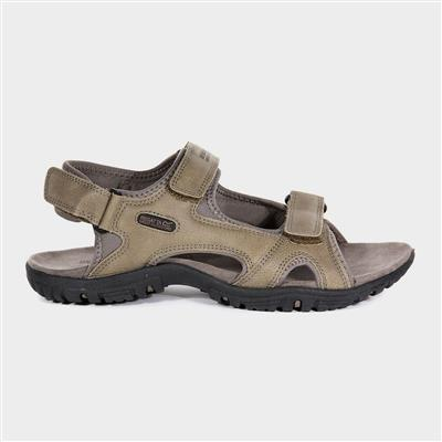 Haris Mens Sports Sandal in Brown