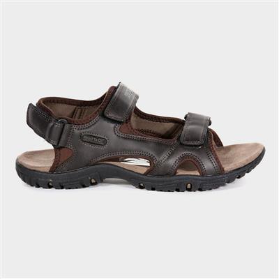 Mens Haris Sports Sandal in Brown