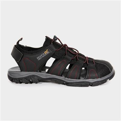 Westshore Mens Black Closed Toe Sandal