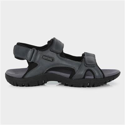 Haris Briar Mens Sports Sandal in Grey