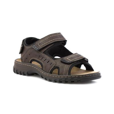 Mens Easy Fasten Sporty Sandal in Brown