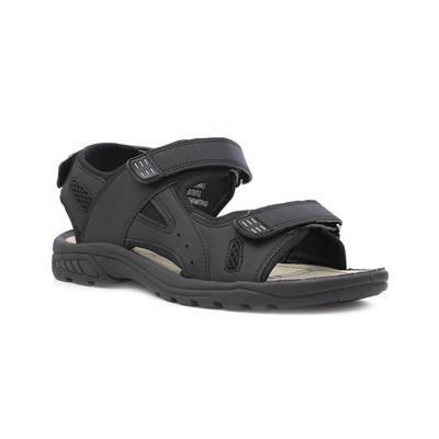 Mens Black Touch Fasten Sandal