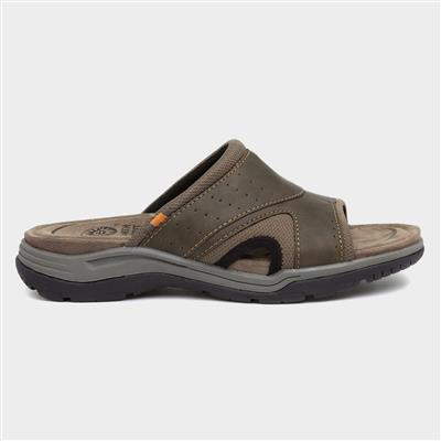 Geoffrey Mens Brown Mule Sandal