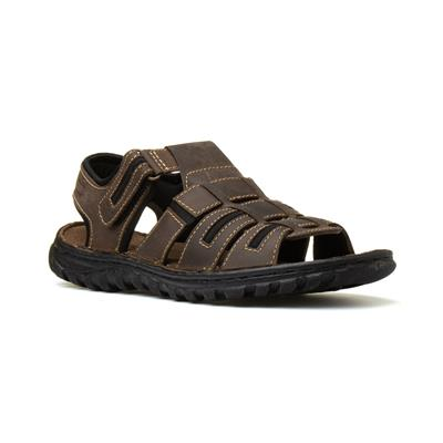 Doyle Mens Touch Fasten Sandal in Brown