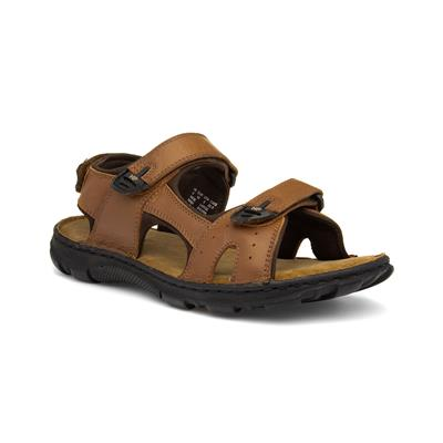 Avery Mens Brown Leather Sandal