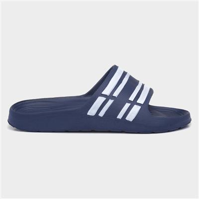 Adults Navy Stripy Mule Sandal