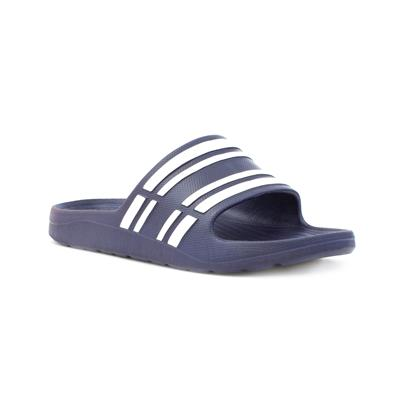 Mens Navy Stripy Mule Sandal