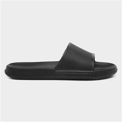Adults Black Slip On Mule Sandal