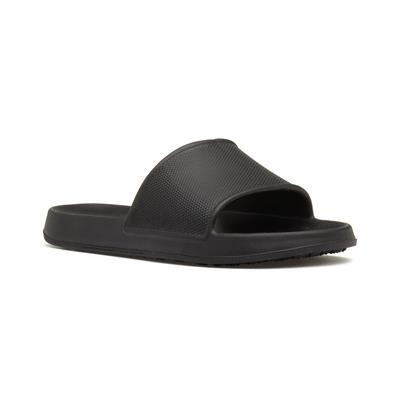 Mens Black Slip On Mule Sandal