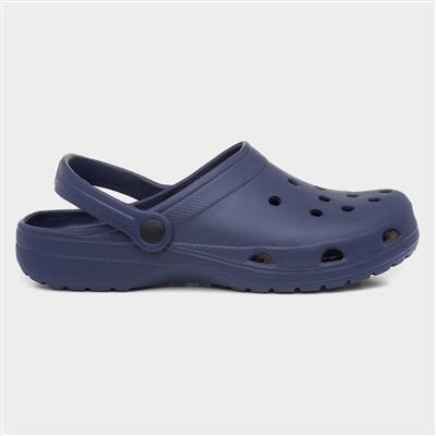 Adults Eva Navy Slip On Clog Sandal