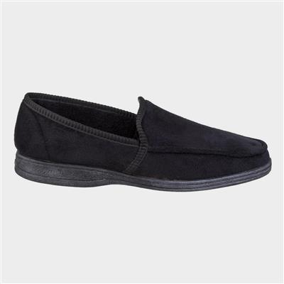 Mens Dakis Slip On Slipper in Black