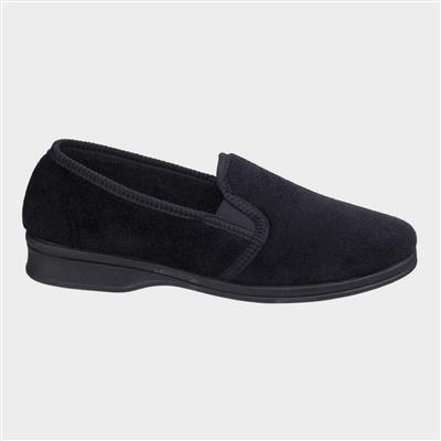 Mens Shepton Slip On Slipper in Black