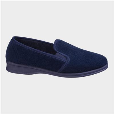 Mens Shepton Slip On Slipper in Blue