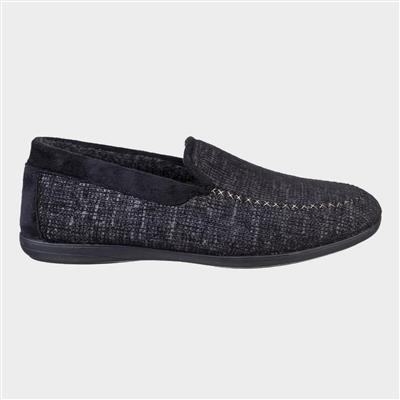 Mens Stanley Loafer Slipper in Black