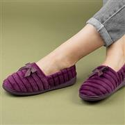 The Slipper Company Womens Burgundy Slipper (Click For Details)