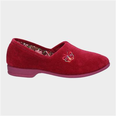 Womens Bouquet Slipper in Red