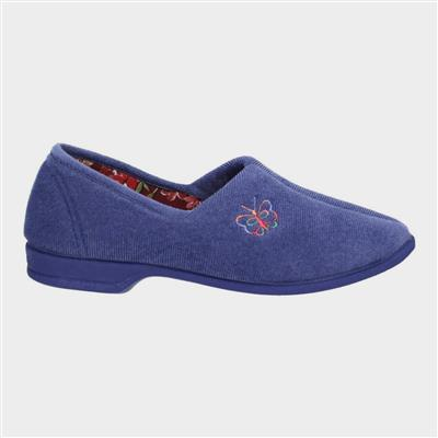 Womens Bouquet Slipper in Blue
