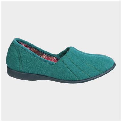 Womens Blue Audrey Slipper