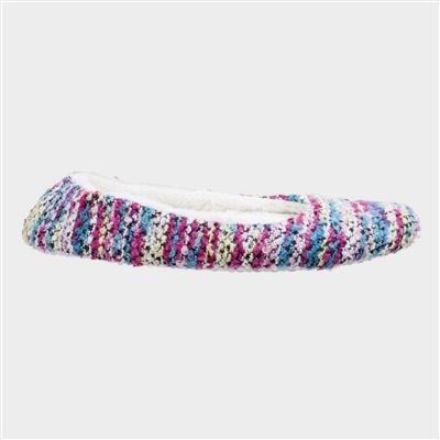 Womens Morzine Knitted Slipper in Pink