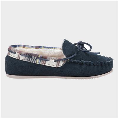 Kilkenny Womens Navy Suede Moccasin