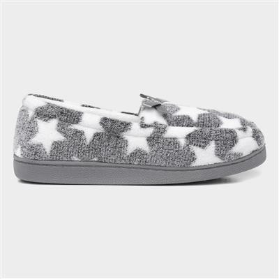 Grey Moccasin Slipper