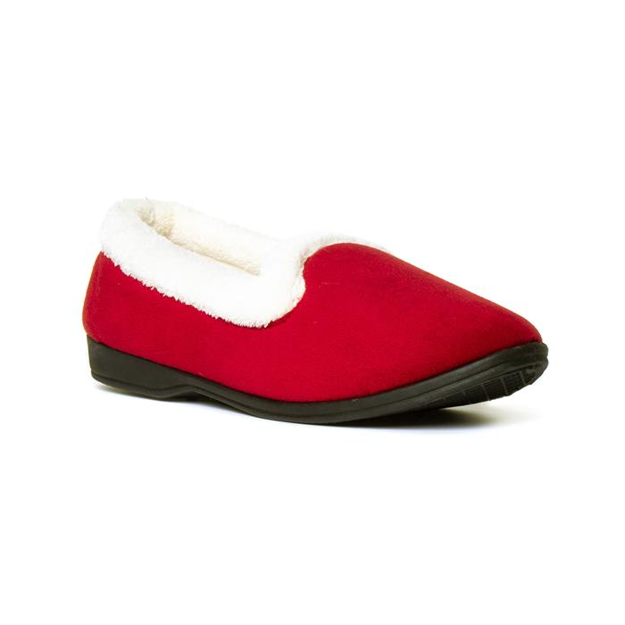 What Did Women Wear in the 1950s? 1950s Fashion Guide The Slipper Company Womens Red Velour Full Slipper £7.99 AT vintagedancer.com