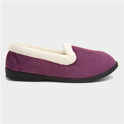 Womens Purple Moccasin Slipper