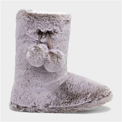 Womens Mink Faux Boot Slipper
