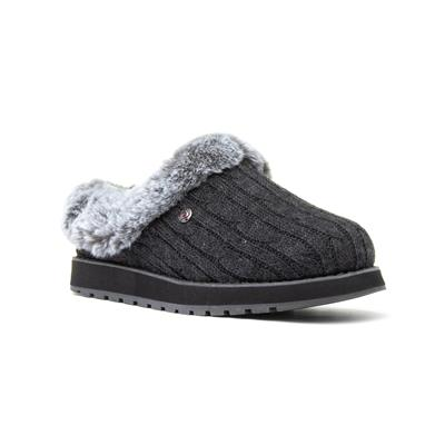 Keepsakes Womens Charcoal Mule Slipper