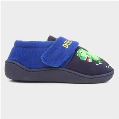 Kids Blue Dinosaur Slipper