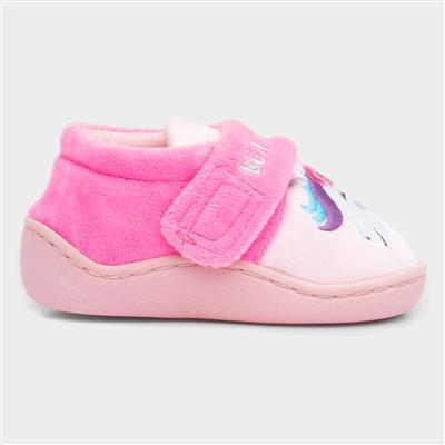 Girls Unicorn Slipper in Pink