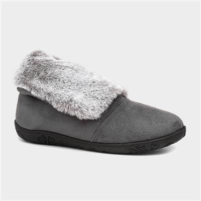 Esme Womens Grey Bootie Slipper