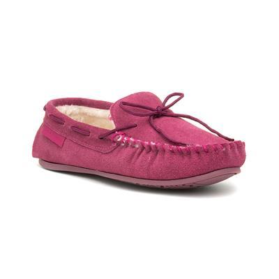 Allie Womens Pink Moccasin Slipper