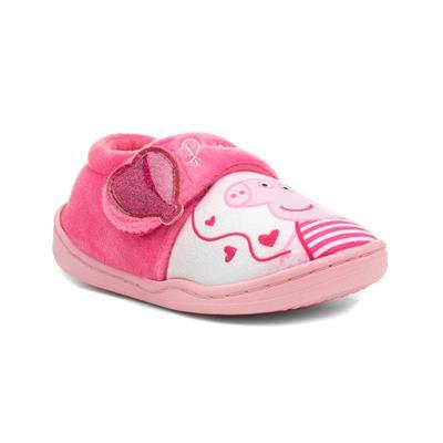 Aspora Kids Pink Easy Fasten Slipper